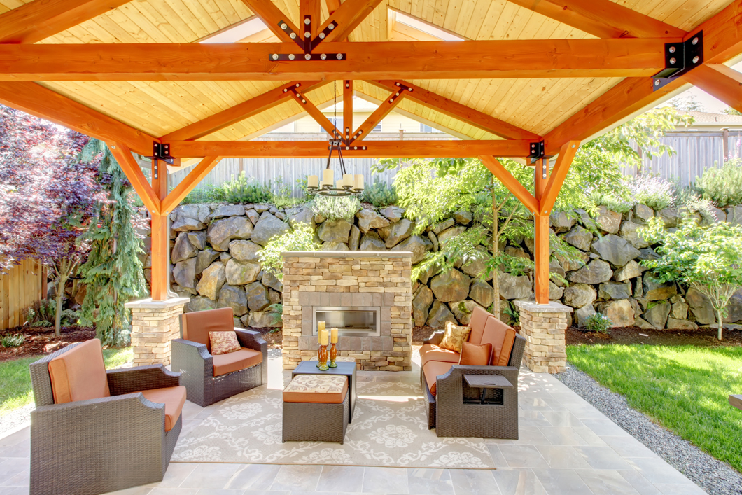Enjoy the benefits of an outdoor fireplace